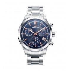 Reloj Cronógrafo Sandoz CASUEL 81383-37 hombre piel