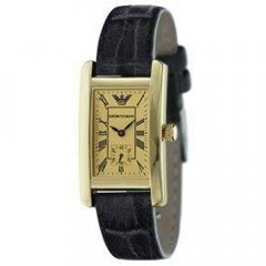 Reloj Emporio Armani AR0123 Hombre Dorado Rectangular Cuarzo