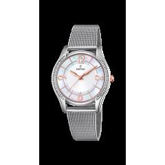 Reloj Festina F20420/1 mujer acero nácar.