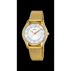 Reloj Festina  MADEMOISELLE F20421/1 mujer acero dorado.