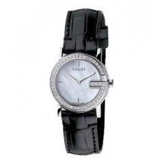 thumbnail Reloj Gucci YA102511 Mujer Negro Cocodrilo Diamantes