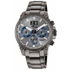 Reloj Lotus Chrono 10140/2 acero gris y azul