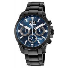 Reloj Lotus Chrono 10141/2 acero negro y azul