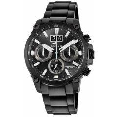 Reloj Lotus Chrono 10141/3 acero negro y blanco