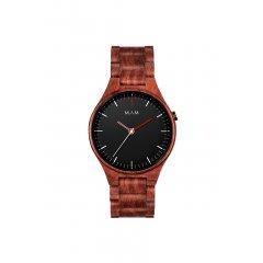 Reloj MAM hombre VOLCANO 697 Madera Sándalo Rojo