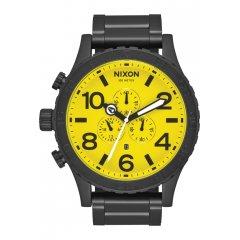 Reloj NIXON 51-30 CHRONO ALL BLACK- YELLOW A0833132 Hombre acero negro.