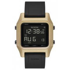 Reloj NIXON STAPLE BLACK / GOLD  A1282010 Unisex dorado.