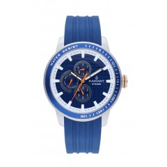 Reloj Radiant RA494701 Hombre Plateado/Gris Silicona