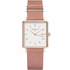 Reloj Rosefield White Old Pink Rose Gold QOPRG-Q026 mujer rosa