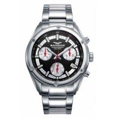 Reloj Sandoz Crono 81509-57 hombre acero negro