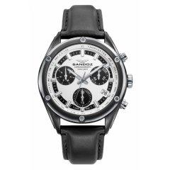 Reloj Sandoz Crono 81513-07 hombre acero blanco