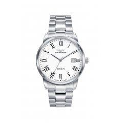 Reloj Sandoz ELEGANT 81439-03 hombre acero plateado