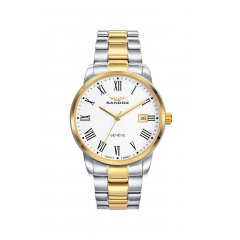 Reloj Sandoz ELEGANT 81439-93 hombre acero bicolor