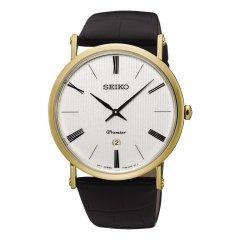Reloj SEIKO Premier SKP396P1 Hombre Dorado Piel Calendario