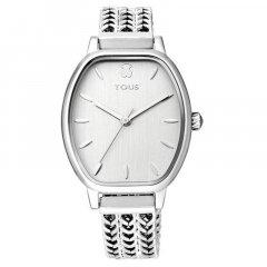 Reloj TOUS brazalete esterilla 100350405 plateado