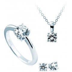 Set DIAMONDFIRE 1312021918180 mujer plata circonitas