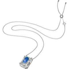 Colgante de croma Swarovski 5600625 azul plateado