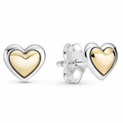 Pendientes Pandora 299389C00 corazón dorado