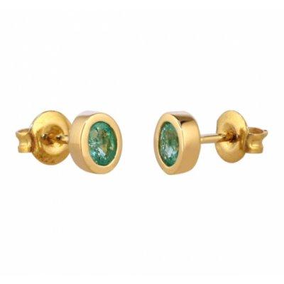 principal Pendientes oro con esmeraldas Bernat Rubí 153726A