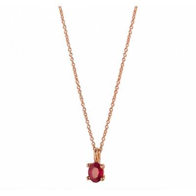 principal Colgante oro rosa con rubí Bernat Rubí 03143375R Mujer