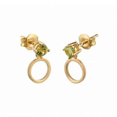 principal Pendientes de oro con peridotos Bernat Rubí 02-153771