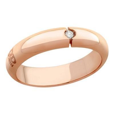 principal Alianza de Boda Davite & Delucchi AA2000RD Incontro Oro Rosa Diamantes