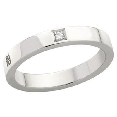principal Alianza de Boda Davite & Delucchi AA2013D Insieme Oro Blanco Diamantes