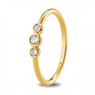 principal Anillo ARGYOR 74A0073 mujer oro amarillo Diamantes