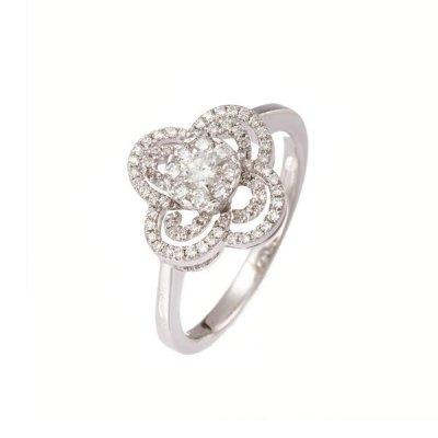 principal Anillo Davite & Delucchi AA0307370S mujer oro blanco Diamantes