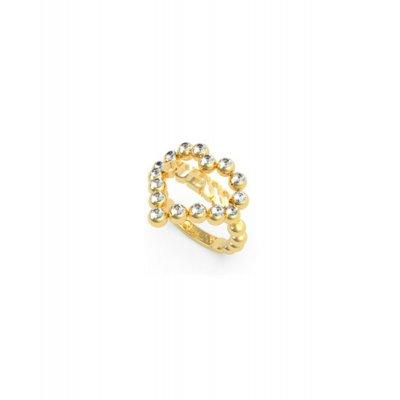 principal Anillo GUESS UBR70026-52 mujer acero dorado