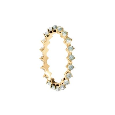 principal Anillo P DE PAOLA AN01-140-14 Mujer Plata Cristales Azules