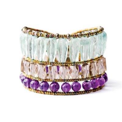 principal Brazalete Ziio jewelry BR Cool Mujer Plata Dorado Cuarzo