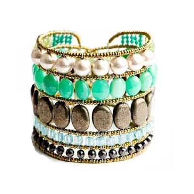 principal Brazalete Ziio jewelry BR MONOCROMO GREEN Mujer Plata Dorado Crysophase