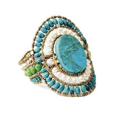 principal Brazalete Ziio jewelry BR SUN LG TURCHESE Mujer Plata Azul Perla