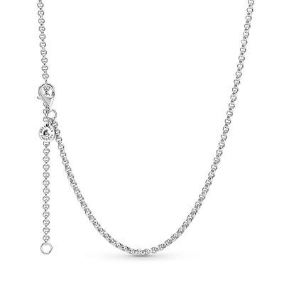 principal Cadena Pandora Eslabones Redondos 399260C00-60 mujer plata