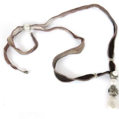 principal Cadena y colgante labruixeta BRU559 Mujer Plata Gris Perla