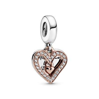principal Cham colgante Pandora 788693C01 Plata primera ley Mujer Corazón Brillante