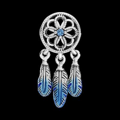 principal Charm atrapasueños azul Pandora 799341C01 plata