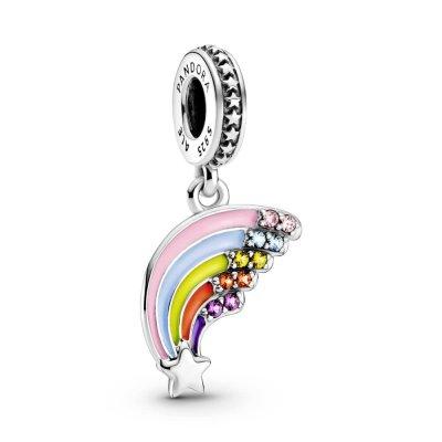 principal Charm colgante Pandora arcoiris 799351C01 plata
