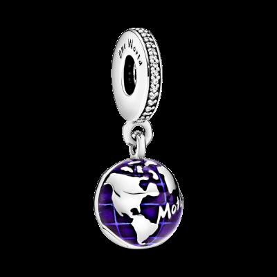 principal Charm colgante Pandora Planeta Azul 798774C01 mujer