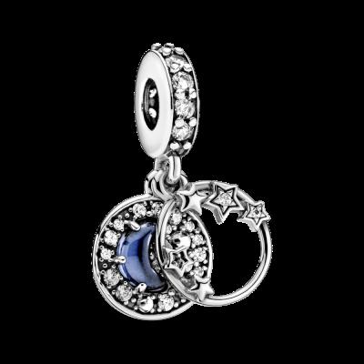 principal Charm Pandora Cielo Azul Noche Creciente Luna 799216C01 mujer
