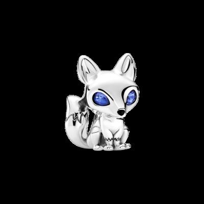 principal Charm Zorro de Ojos Azules 799096C01 mujer plata azul