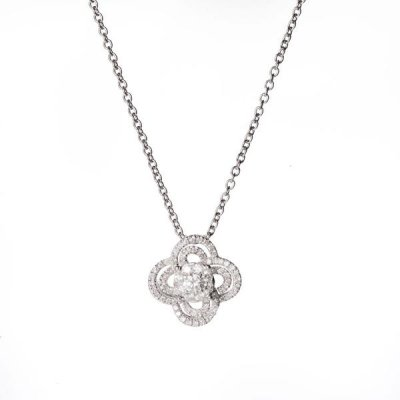 principal Colgante Davite & Delucchi CLN0110670S mujer oro blanco Diamantes