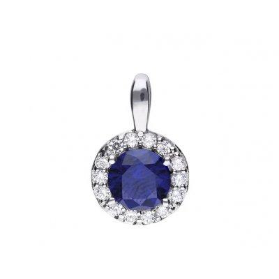 principal Colgante DIAMONFIRE 6512701089 mujer plata azul marino