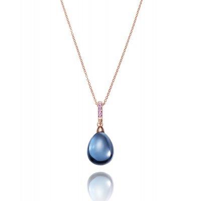 principal Collar Elegant Viceroy 3015C100-53 mujer azul oro rosa