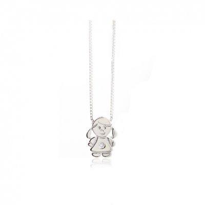 principal Collar FINOR GM-422B mujer oro blanco Diamante