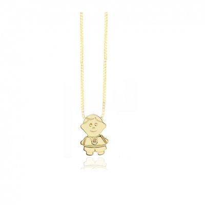 principal Collar FINOR GM-423A mujer oro amarillo Diamante