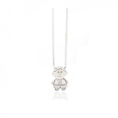 principal Collar FINOR GM-423B mujer oro blanco Diamante