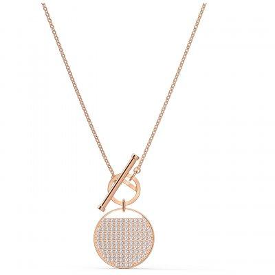 principal Collar Ginger T Bar Swarovski 5567529 mujer tono oro rosa
