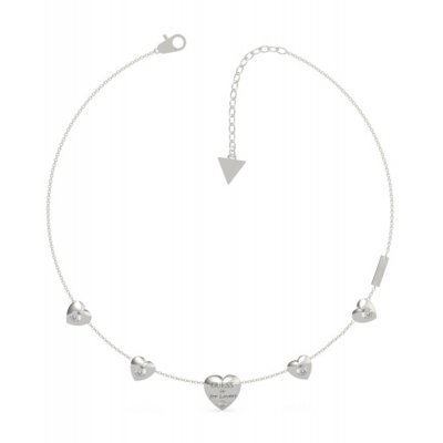 principal Collar GUESS corazones UBN70028 acero plateado